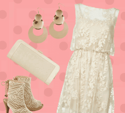 платье комбинация с кружевом с полусапогами