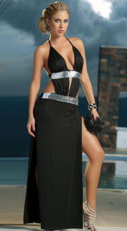 платье с широкими бёдрами с вырезом на спине