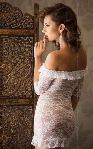 прозрачное платье комбинация с кружевом