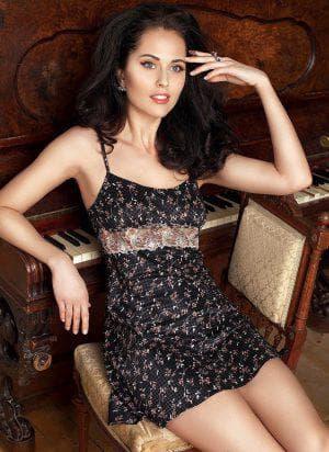 платье комбинация с кружевом от Anabel Arto