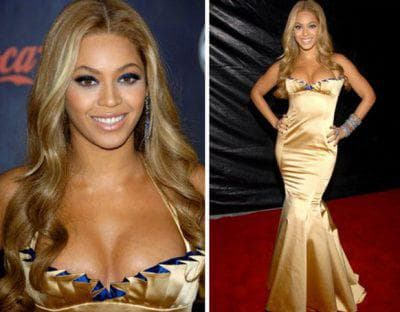 макияж под золотое платье