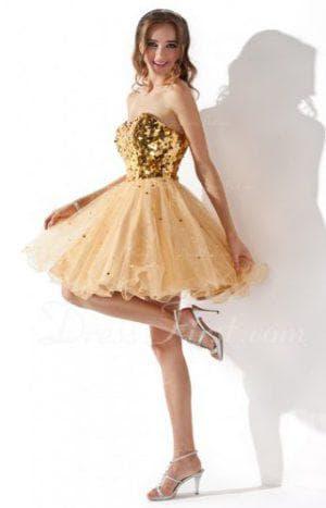 золотое платье для светловолосых