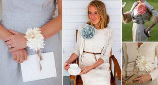 цветы из ткани для украшения платья