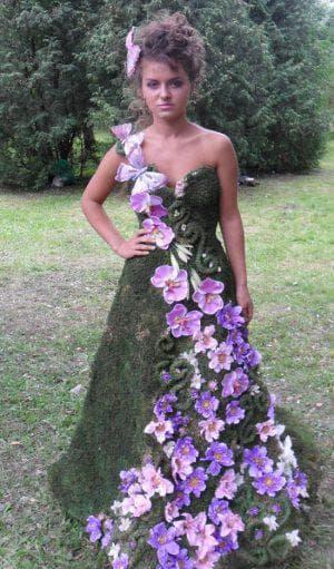 цветы из ткани для украшения платья на праздник