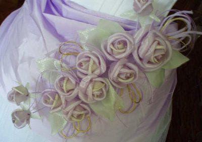 цветы из ткани для украшения платья на свадьбу