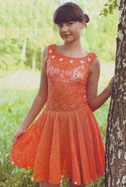 оранжевое платье для подростка