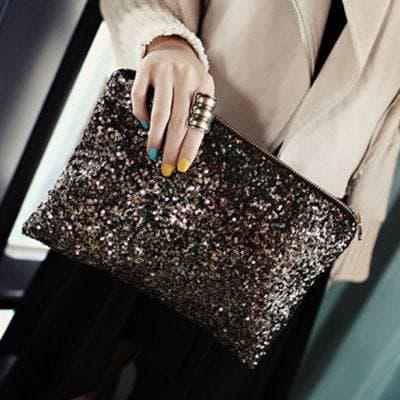 сумочка для платья с пайетками